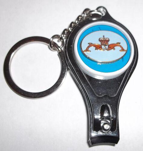 bottle opener. Royal Navy Submariner keyring nail clippers