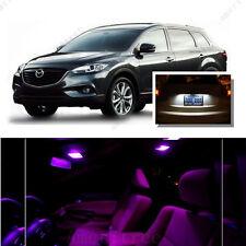 For Mazda CX-7 2007-2012 Pink LED Interior Kit + Xenon White License Light LED