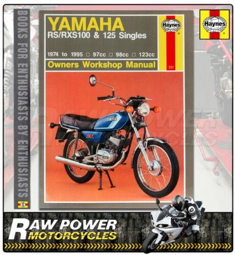 1974-1983 Haynes Manual Yamaha RS100 0331 97cc