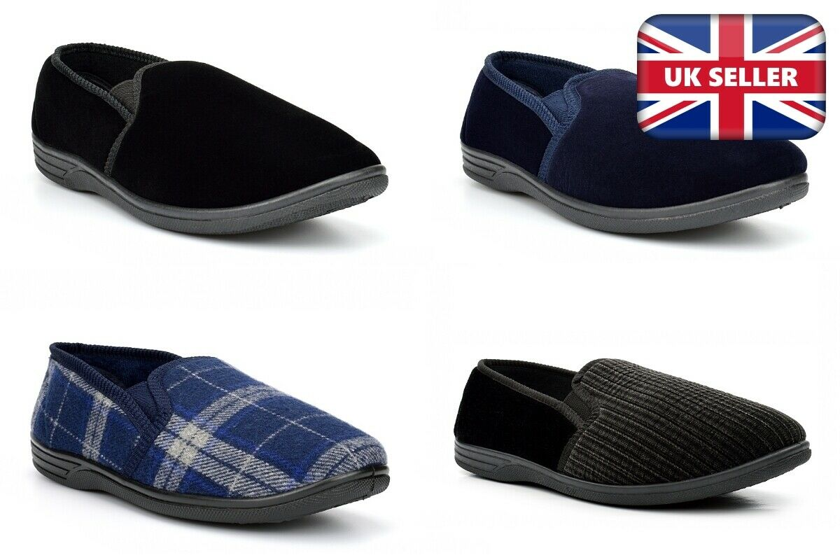 Mens Extra Large Slippers Mens Slippers Mens Large Slippers Tartan Sizes 6-14