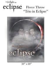 "TWILIGHT - Eclipse Trio in Eclipse 50"" x 60"" Fleece Throw Blanket (NECA) #NEW"