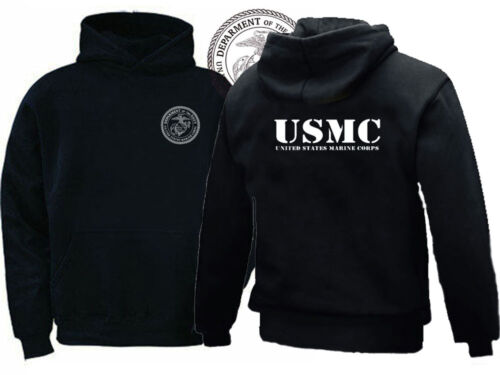 US Armed Forces Marine USMC Two Sided graphic sweat hoodie
