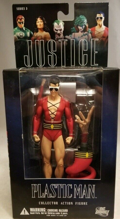 DC Direct Alex Ross Plastic Man Figure Justice League JLA  Series 3 (MISB)