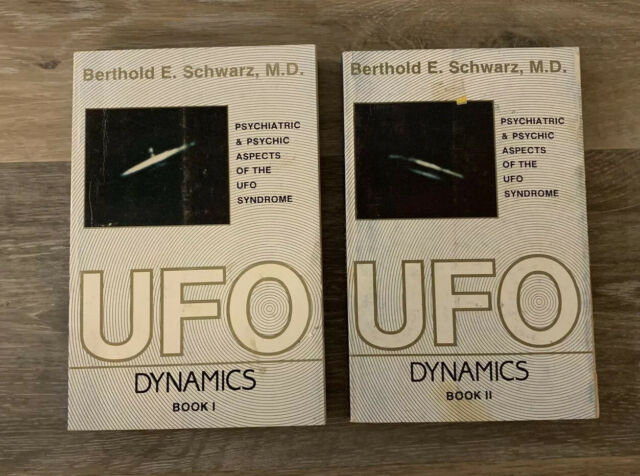 UFO - Dynamics by Berthold Schwarz (1988, Paperback) Book 1 & 2 FREE SHIPPING