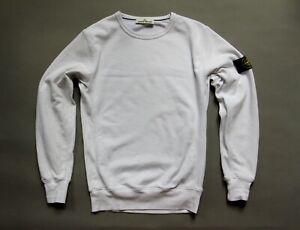STONE-ISLAND-Men-039-s-Cotton-Sweatshirt-Size-M-white-TOP