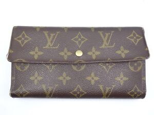 Louis Vuitton Made In France >> Details About Rare Vintage Louis Vuitton Brown Monogram Wallet Made In France