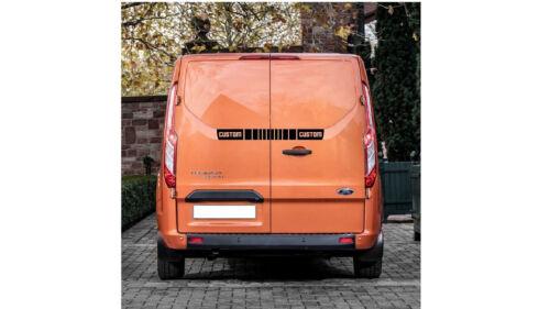 Ford Transit relleno Pegatinas De Puerta Trasera de logotipo personalizado Negro calcomanías gráficos