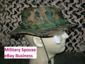 Image is loading USMC-MARPAT-Woodland-Boonie-Hat-Sekri-Industries-size- a0796c1aa9e