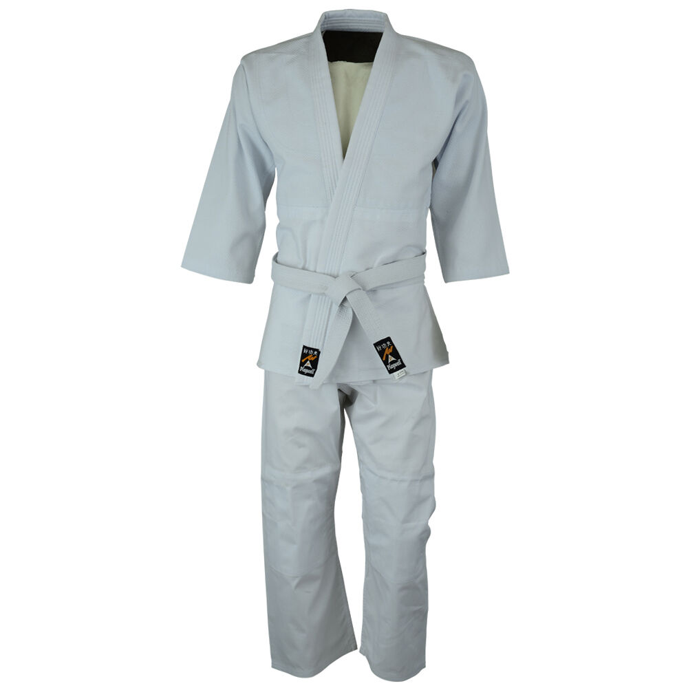 Playwell Judo Bleached White Students Uniform Adults Suits Cotton Gis Outfit