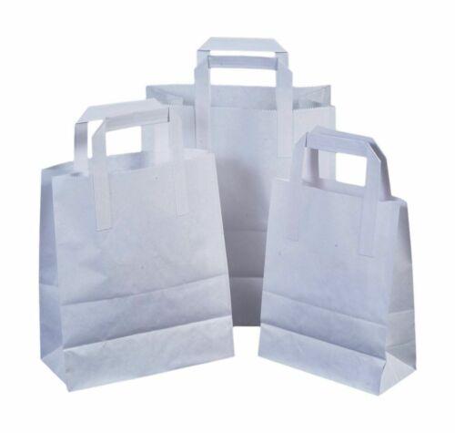 10 Qualité Premium petit SOS KRAFT CRAFT Papier Blanc Traiteur Nourriture Carrier Bags