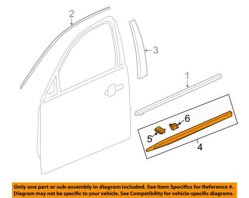 Cadillac GM OEM 13-18 XTS FRONT DOOR-Body Side Molding Left 22760477