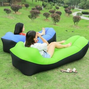 Air-Sleeping-Bag-Lazy-Chair-Lounge-Beach-Sofa-Bed-Inflatable-Camping-Lounger