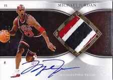 2006-07 Exquisite MICHAEL JORDAN Auto 3 Color Patch Jersey Card #d 100 BULLS