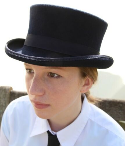 100% Wool Dressage Style Top Hat L approx 59cm 60cm
