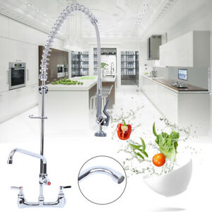 Add-On Tap Commercial Wall Mount  Kitchen Restaurant Pre-Rinse Faucet Swivel
