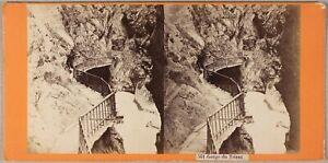 Suisse Reggiseno Del Trient Foto Stereo PL55L2n Vintage Albumina c1870