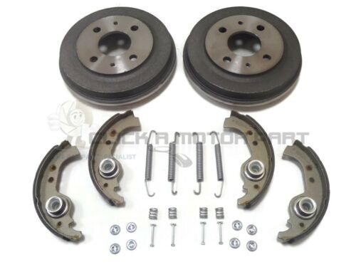 FIAT SEICENTO 1998-2004 REAR 2 BRAKE DRUMS AND SHOES /& FITTING KIT NEW SET