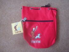 Small Tintin Duffle Bag - Tintin and Snowy Design - Red - New