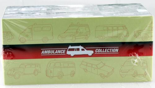 Combinación de EMW 340 ambulancia ambulancia rojo cruz 1:43 del Atlas modelo coche 03