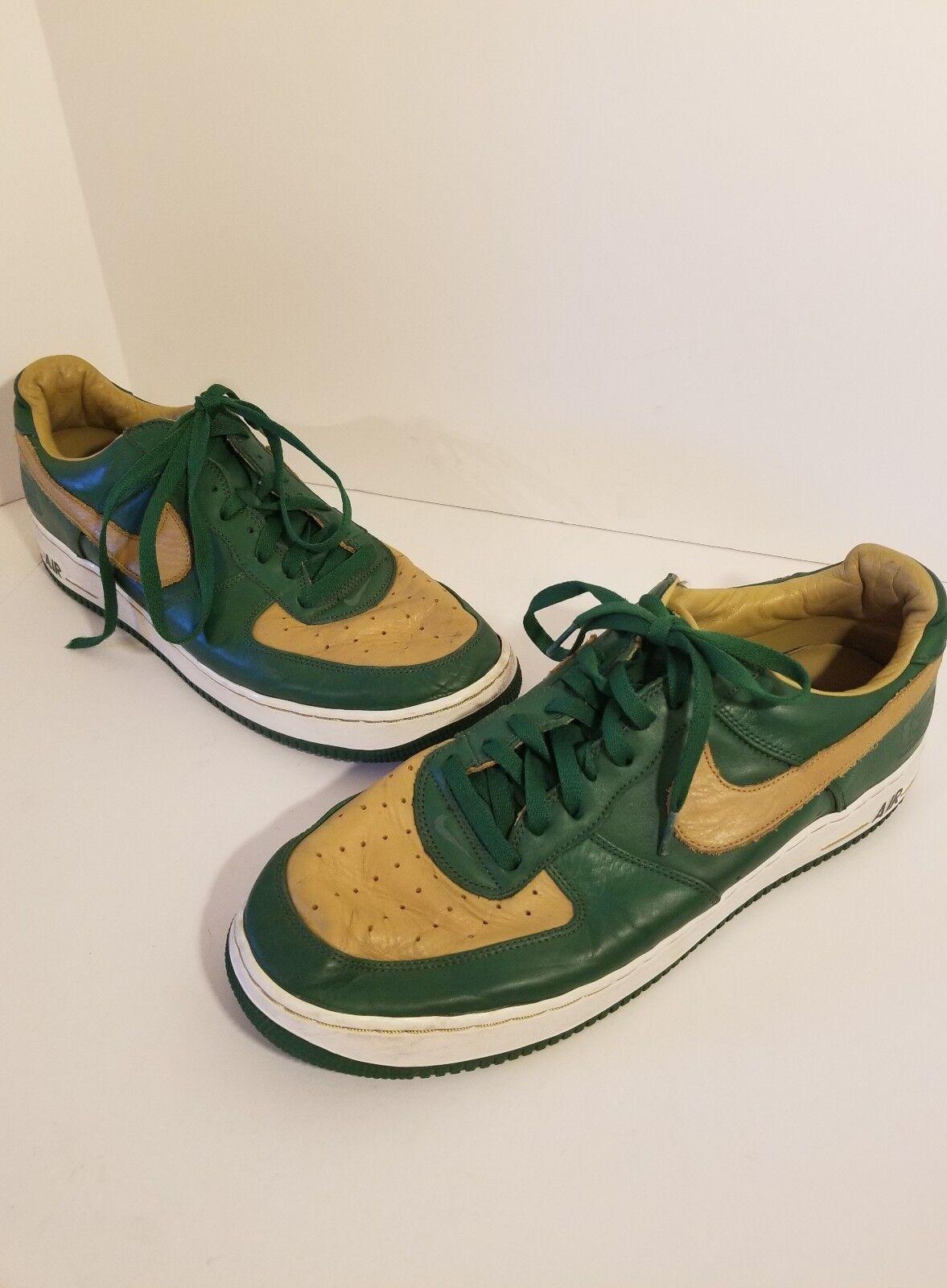 bce83019bd Nike Men's Air Force1 LTD SZ 15 Lebron James Foliage Green gold Sneaker  SVSM Low ntjvgg9475-Athletic Shoes