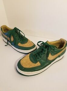 cheap for discount 9ea4f 4adc0 Details about Nike Men's Air Force1 Low LTD SZ 15 Lebron James SVSM Foliage  Green Gold Sneaker