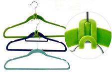 10pcs Creative Mini Flocking Clothes Hanger Easy Hook Closet Organizer tool
