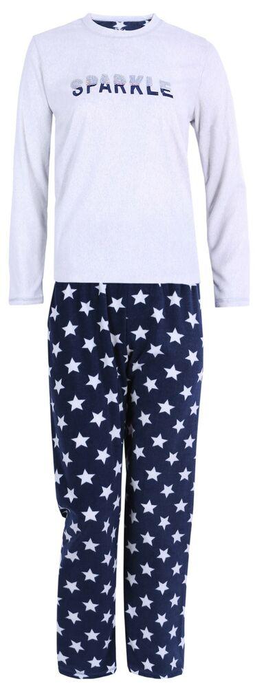 DéTerminé Pyjama Gris En Molletonné à étoiles. ModéLisation Durable