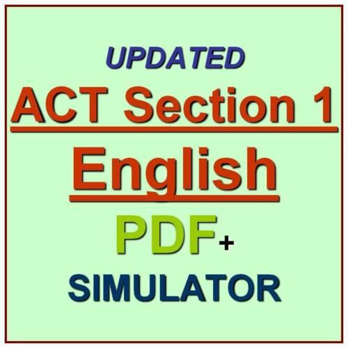 ACT American College Testing English Section 1 Test Exam QA SIM PDF+Simulator