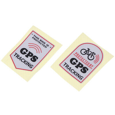 Anti Theft Safety Decal Bicycle Gps Tracking Stickers Bike Protect KWL!YBPA