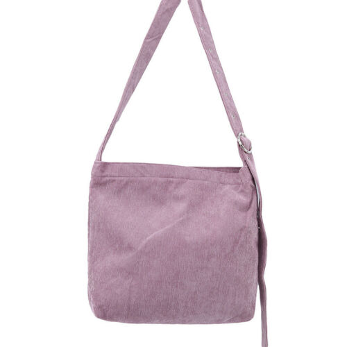 Women Corduroy Shoulder Bags Casual Shopping Bag Tote Package Solid Color JD