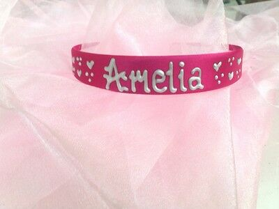 Personalised Girls Rainbow 2cm headband//hairband//alice band ANYNAME