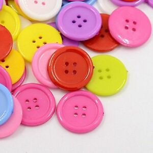 Baby-Buttons-Round-15mm-perfect-for-sewing-cards-scrapbooks-x50