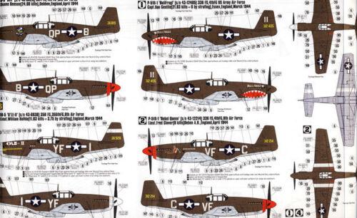MC P-51 B-5 Bee BullFrog OLE-II 1944 Mustang 1:72 Modell-Bausatz kit P-51B-5