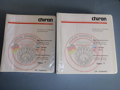 *books 1 & 2* Chiron Cnc Machining Center Operating Instructions Manual 424-13 Top Watermelons