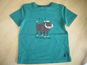 JOULES-Archie-039-You-039-re-Boaring-Me-Now-039-Tee-T-Shirt-Top-Age-4-5-7-8-FreeUKP-amp-P