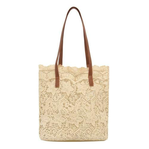 Lace Hollow Out Shoulderbag Women Handbags Summer Beach Casual Totes Bags