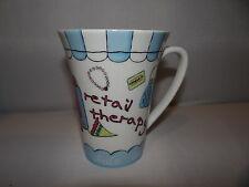 RETAIL THERAPY 12oz. Coffee Mug Tea Cup Shopping Shopaholic Delish Ceramic