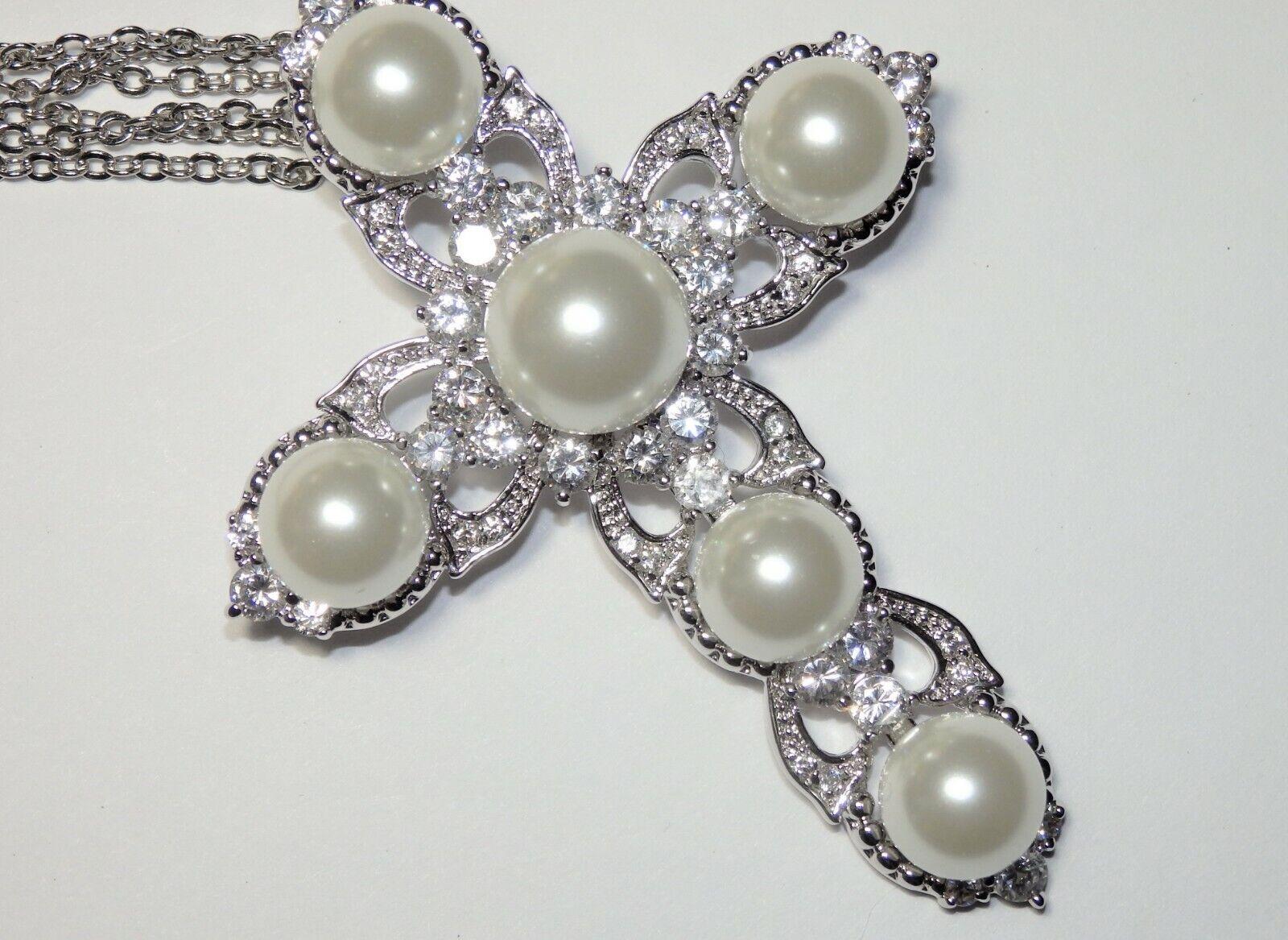 Rare JOAN BOYCE Crystal Rhinestone & Faux Pearl C… - image 4