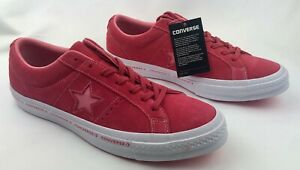 Converse-One-Star-OX-Paradise-Pink-White-Unisex-Shoes-Mens-sz-NEW