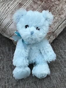 RUSS-SHINING-STARS-BLUE-BEAR-SOFT-CUDDLY-TOY-TEDDY-PLUSH-10-034-SOFT-TOY-USED