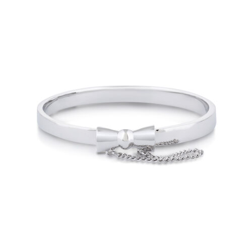 Disney Couture Kingdom Minnie Mouse White Gold-Plated Bow Bangle