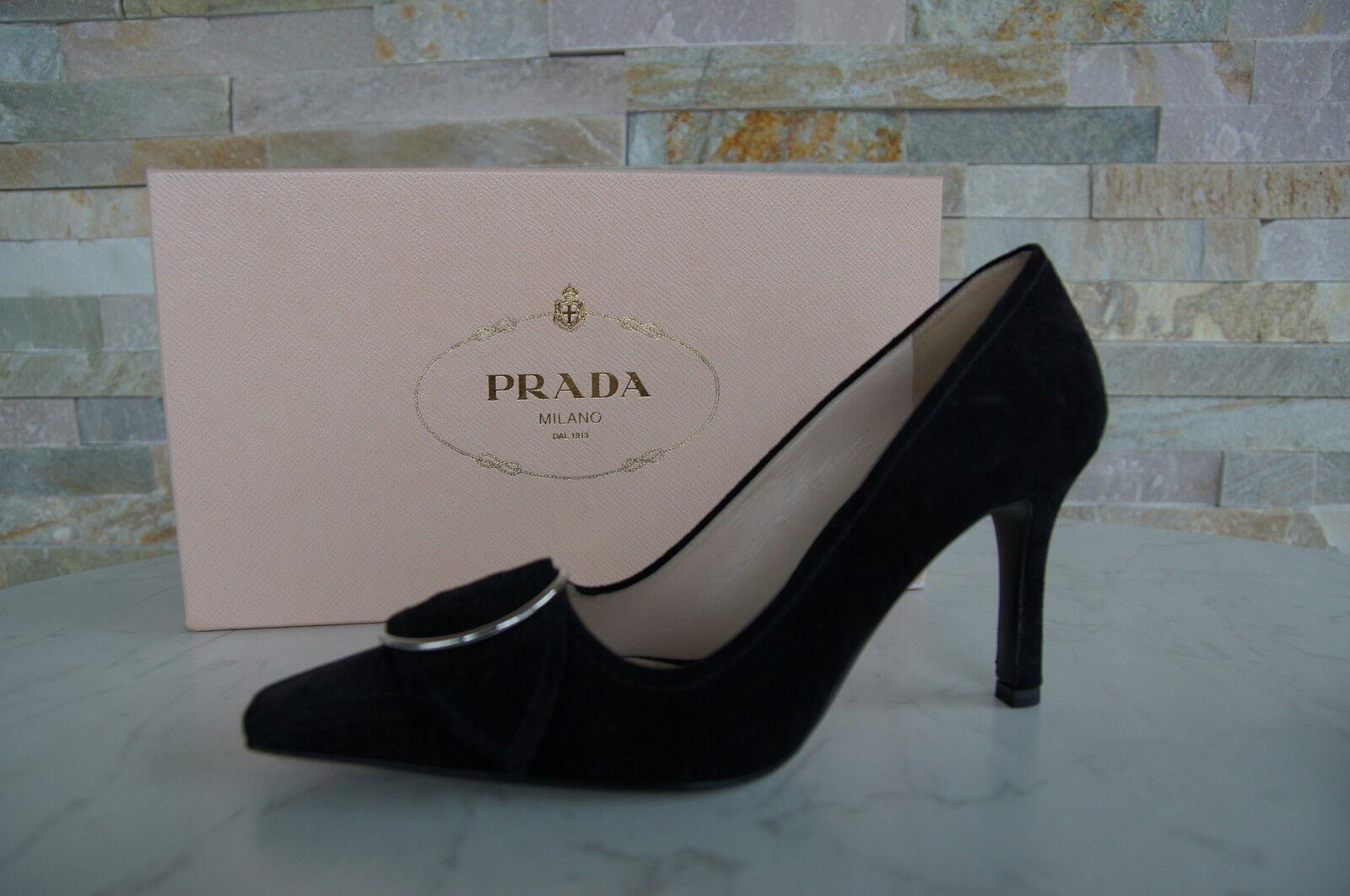 Prada Pumps Gr 38 Schuhe shoes  scarpe 1I487E schwarz black  shoes NEU 8f89cc