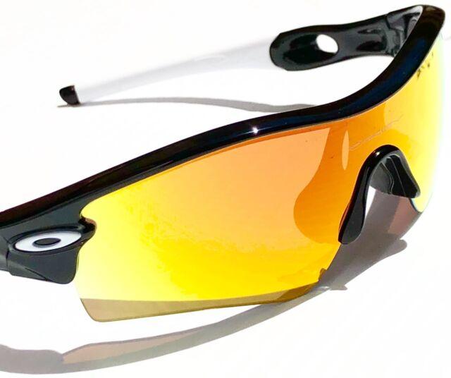 dbac3f2fabd Oakley Radarlock Sunglasses Black Frame OO Red Iridium Polarized Lense
