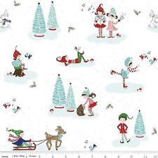 Pixie Noel Kinder Patchwork Stoff Patchworkstoffe Winter Weihnachten Baumwolle