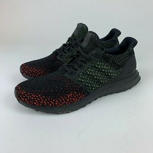 Details about Adidas Mens Ultra Boost Clima Core Black / Solar Red Knit Shoes AQ0482 Size 9