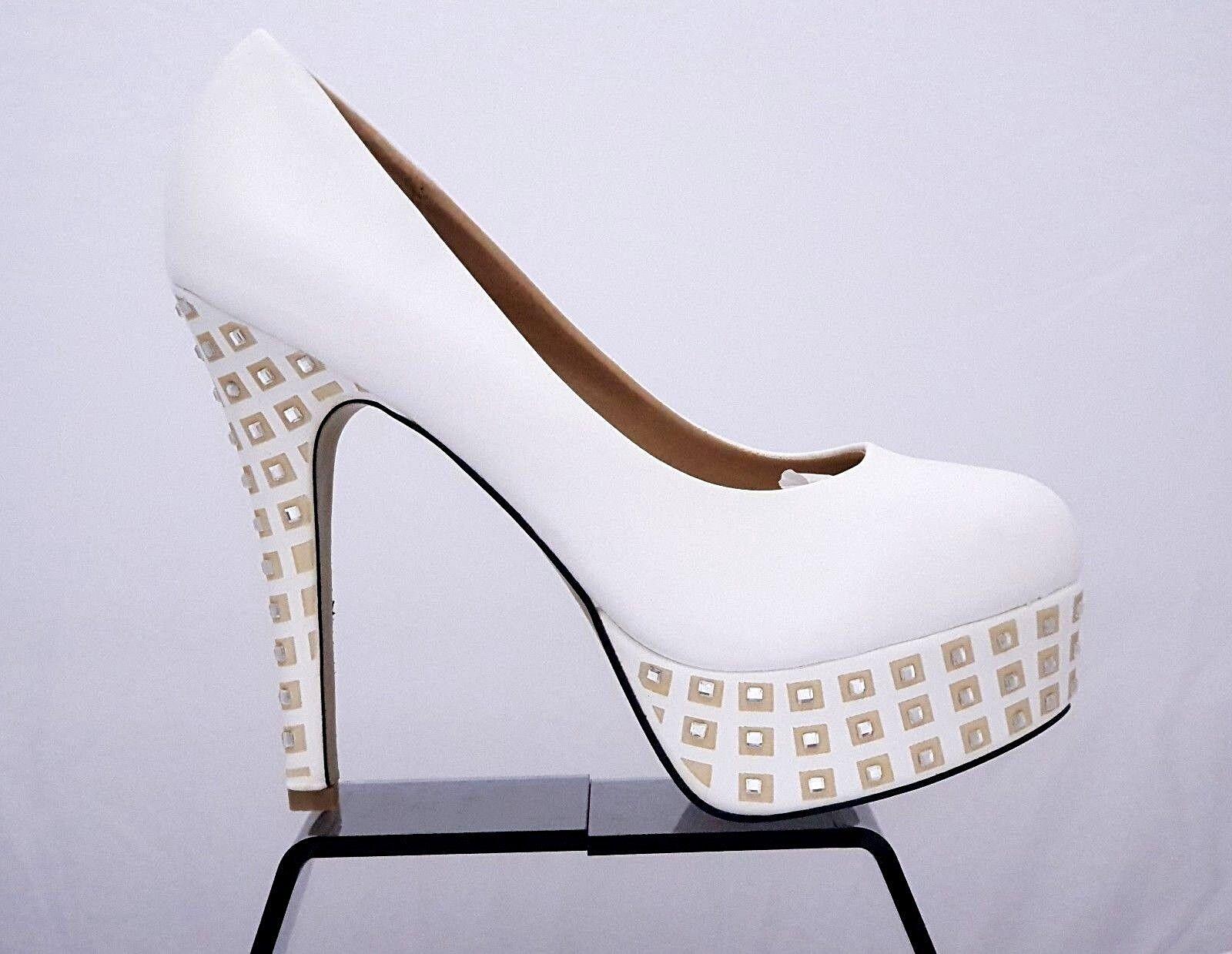 Women's White Diamante High Heel Shoes Platform  Shoes Heel 9db21b