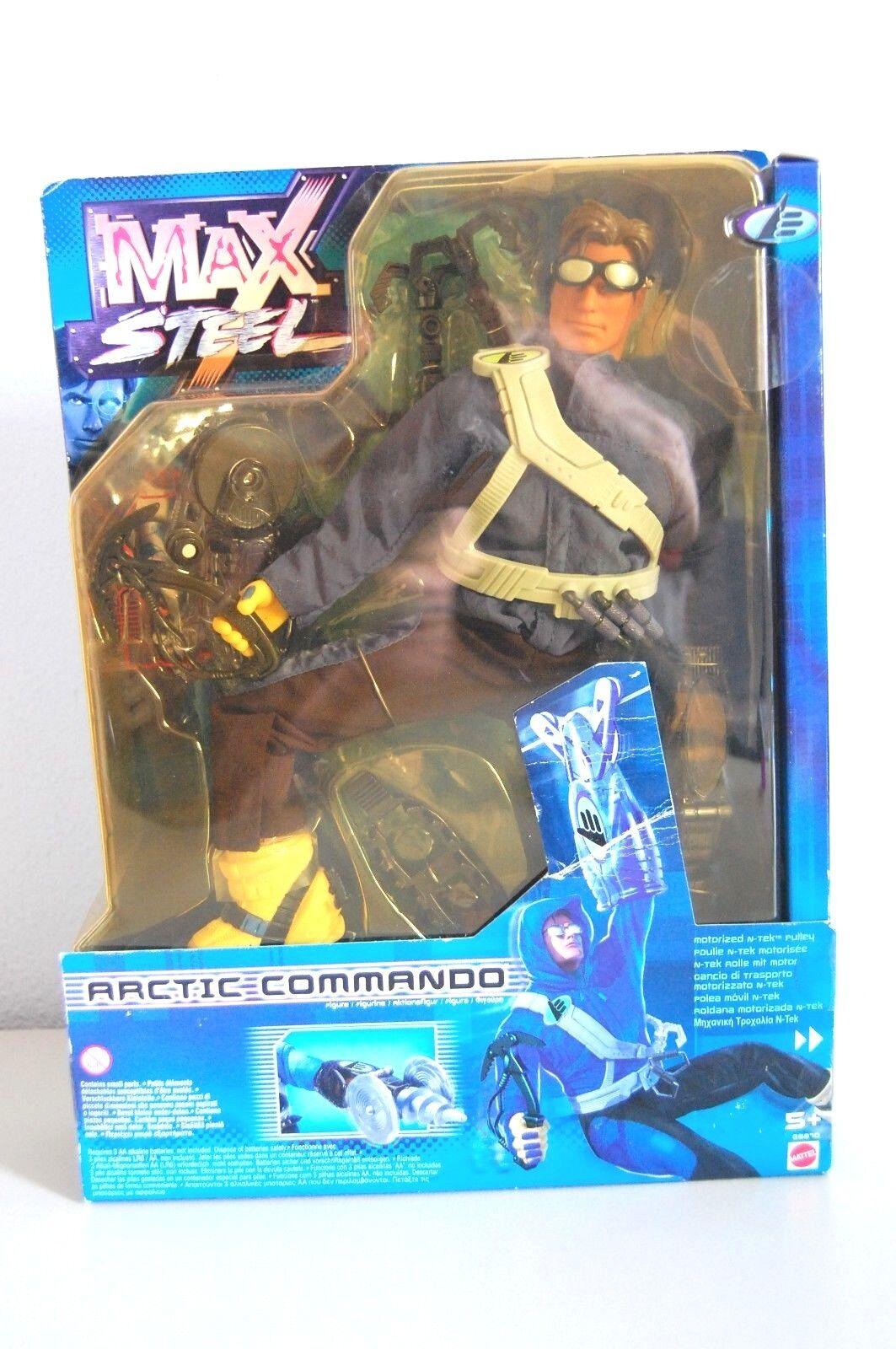 MAX STEEL COMMANDO ARTICO - 26870 MATTEL 2000 Nuovo di Zecca