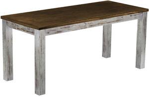Tische-Esstisch-Massivholz-Pinie-massiv-200-x-80-Shabby-Platte-Eiche-antik-Tisch