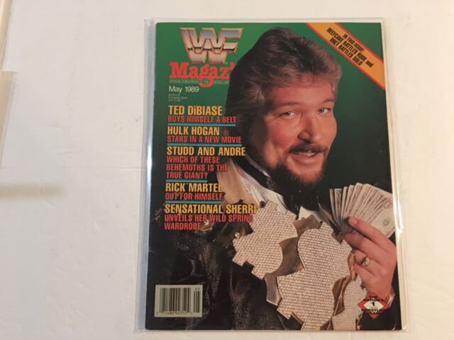 WWF Magazine 1989 May Ted DiBiase Buys Himself A Belt Million Dollar Man WWE
