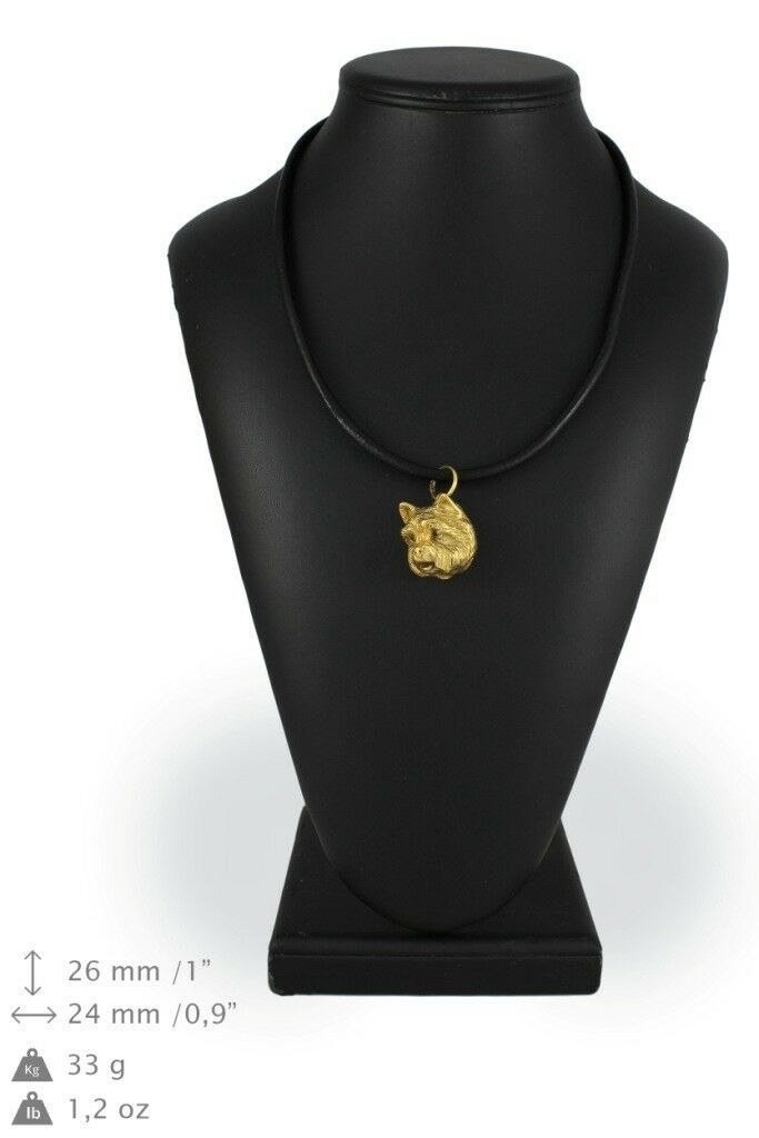 Westie - Gold coverot necklace with dog, high quality Art Dog